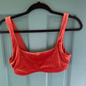Aerie velvet orange/maroon bikini top
